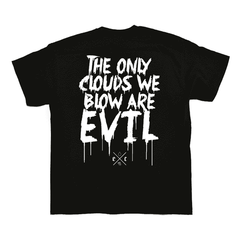 Evil Cloud 'The Only Clouds We Blow' T-Shirt grey-haze.myshopify.com