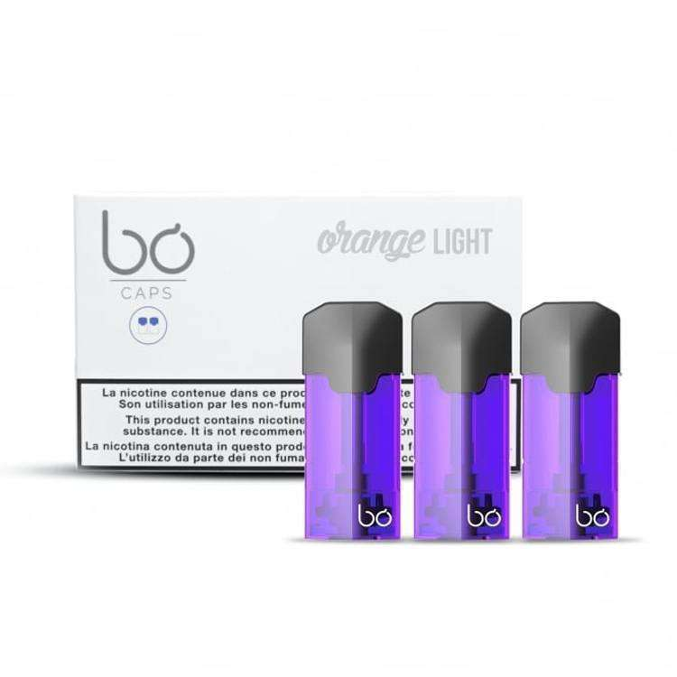 Orange Light Eliquid Pods by BO Vaping grey-haze.myshopify.com