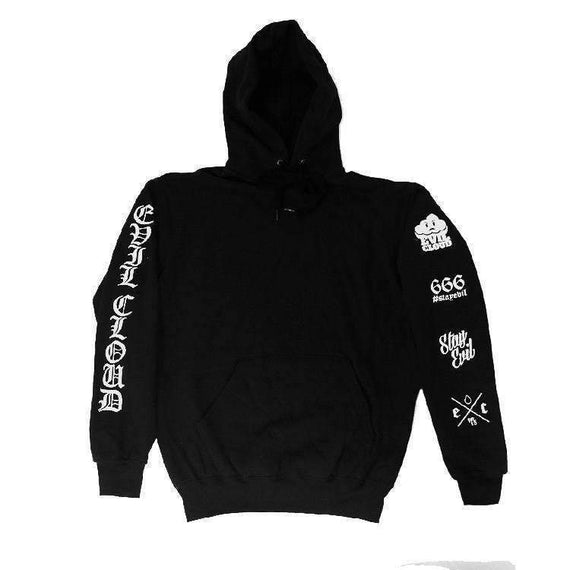 Evil Cloud - Sleeve Logos Hoody