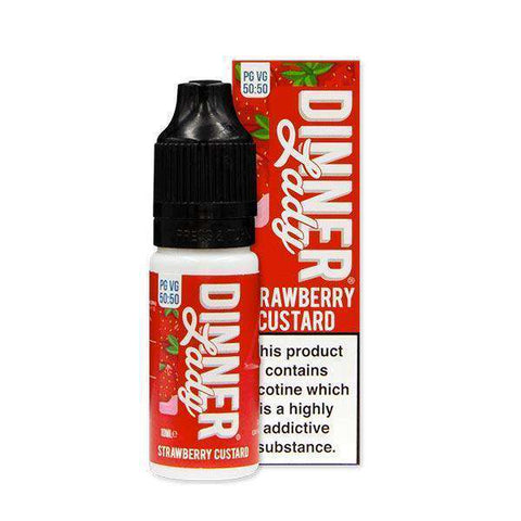 Strawberry Custard 50/50 E-Liquid by Dinner Lady 10ml grey-haze.myshopify.com