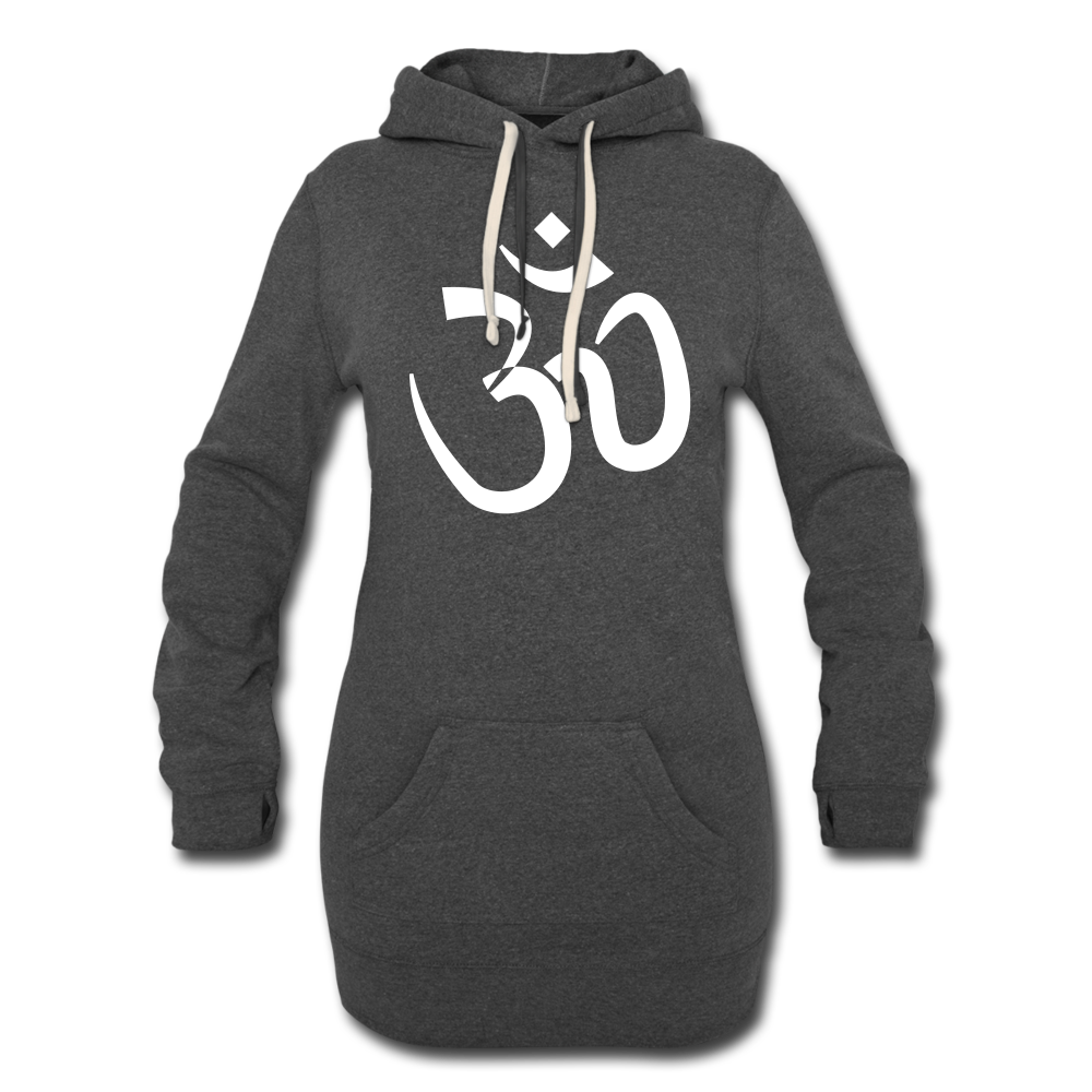 Women's Hoodie Dress - Proud to be Indian - heather black