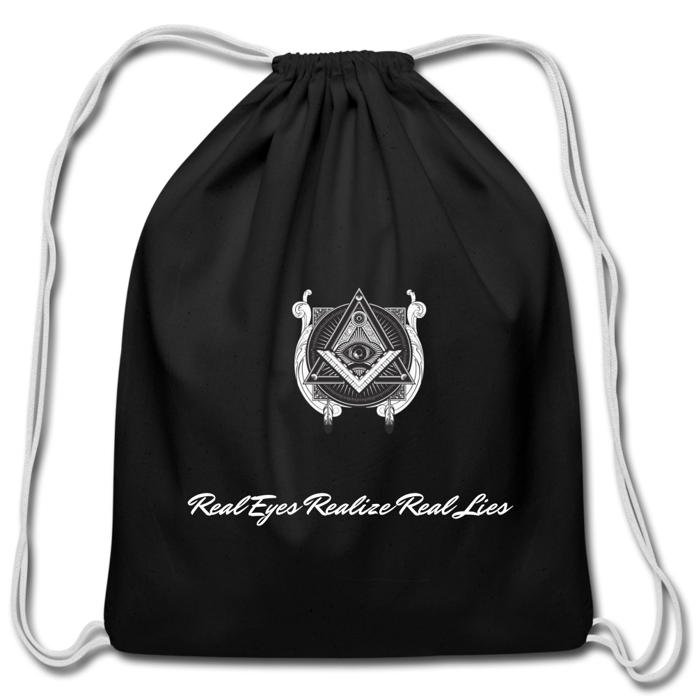 Real Eyes Realize Real Lies Bag - black