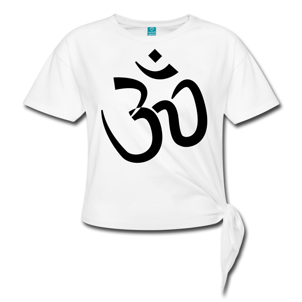 Women's Knotted T-Shirt - Proud to be Indian - white