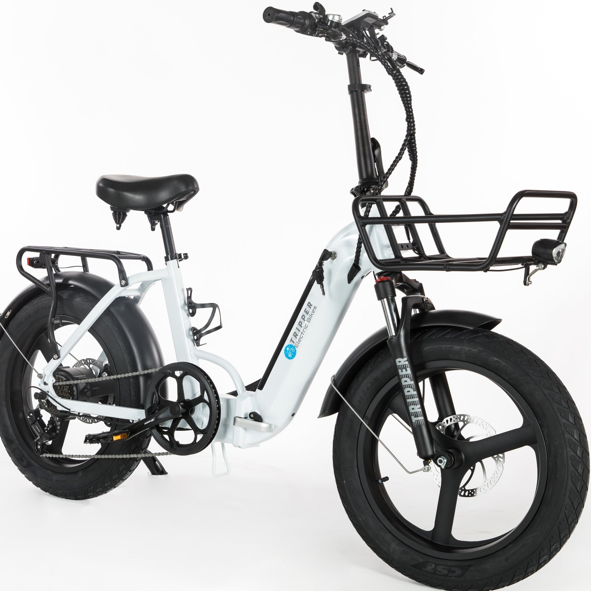 TRIPPER FOLD X WHITE UPGRADED FOLDING E-BIKE