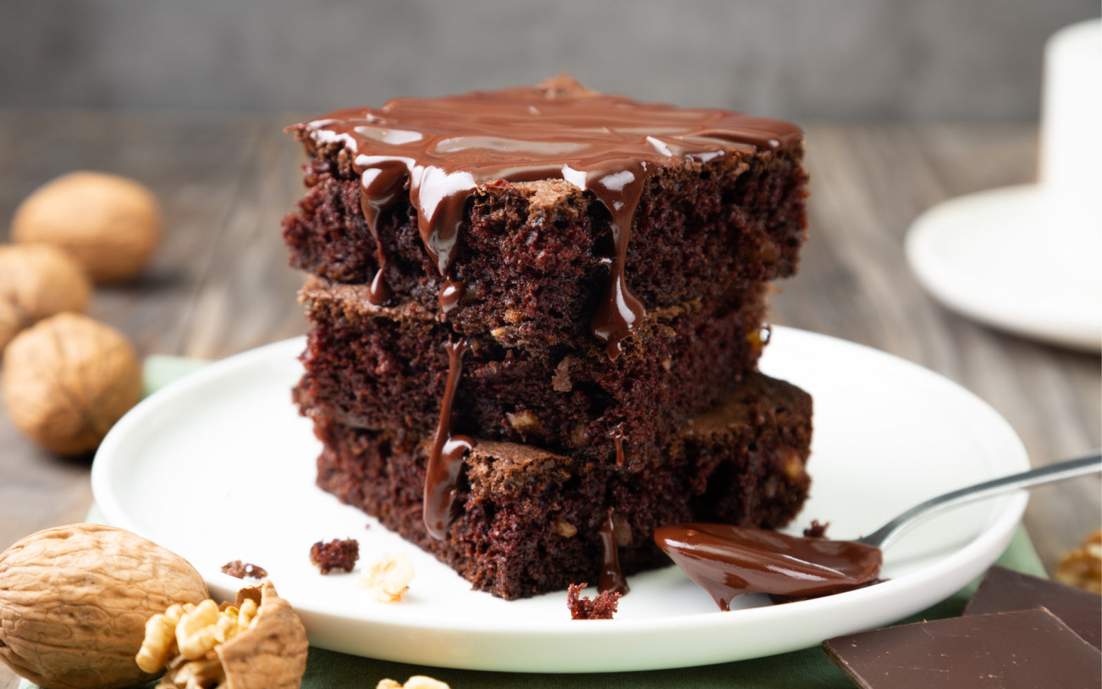 easy vegan fudge chocolate brownies
