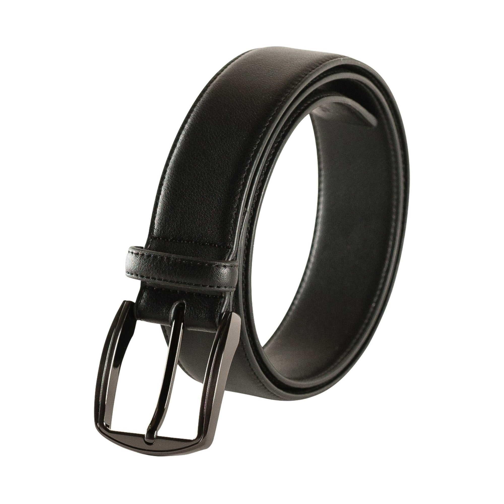 New! Polished Gunmetal Belt - Vegan - Doshi FCSA