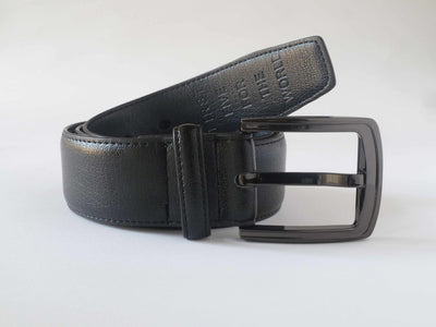 Doshi Metallic Black Chrome Casual Belt - Vegan - Doshi FCSA