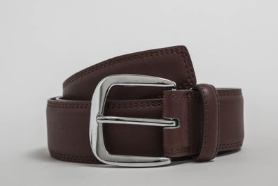 Doshi Burgundy Chrome Casual Belt - Vegan - Doshi FCSA
