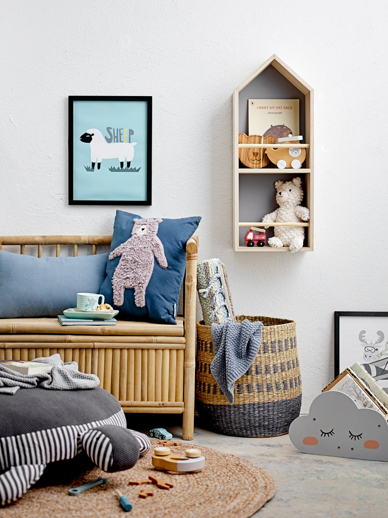 Grey Cloud Wood Book Shelf