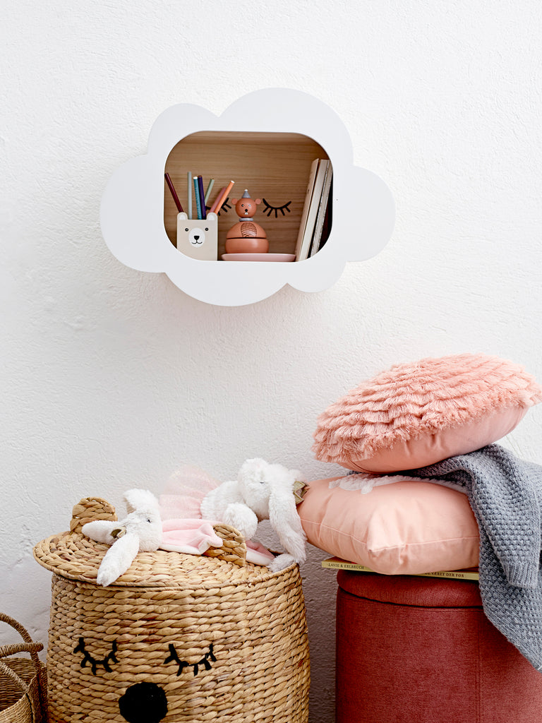 White Cloud Shadowbox Wall Bookcase