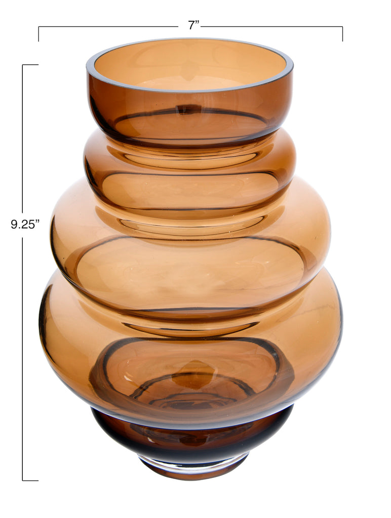 5-Tier Transparent Glass Vase