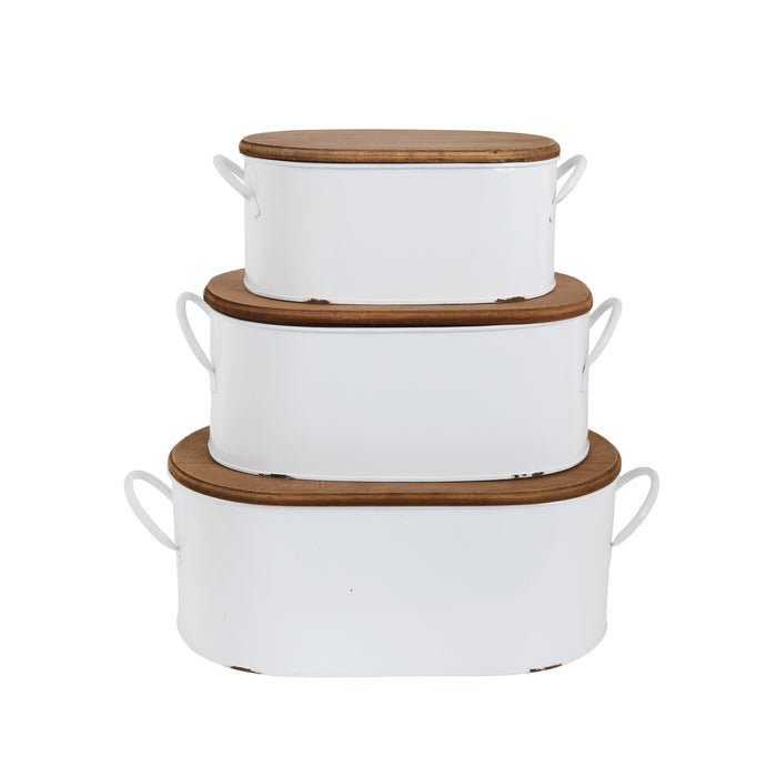 Set of 3 Decorative Boxes with Lids