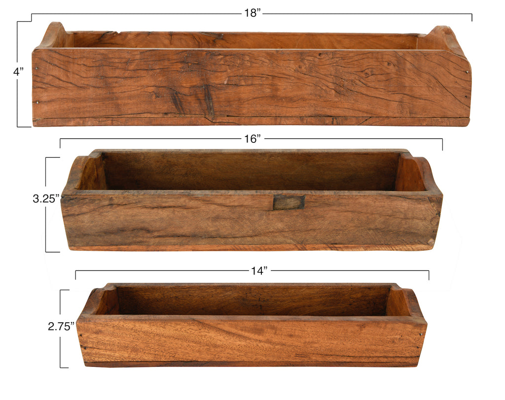 Set of 3 Found Wood Boxes (each one will vary)