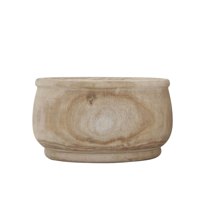 Small Natural Paulownia Wood Planter