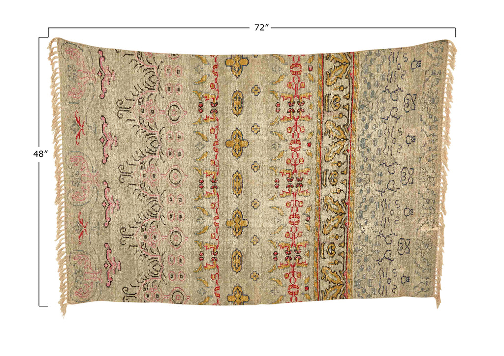 Carolina 4' x 6' Woven Cotton Printed Rug
