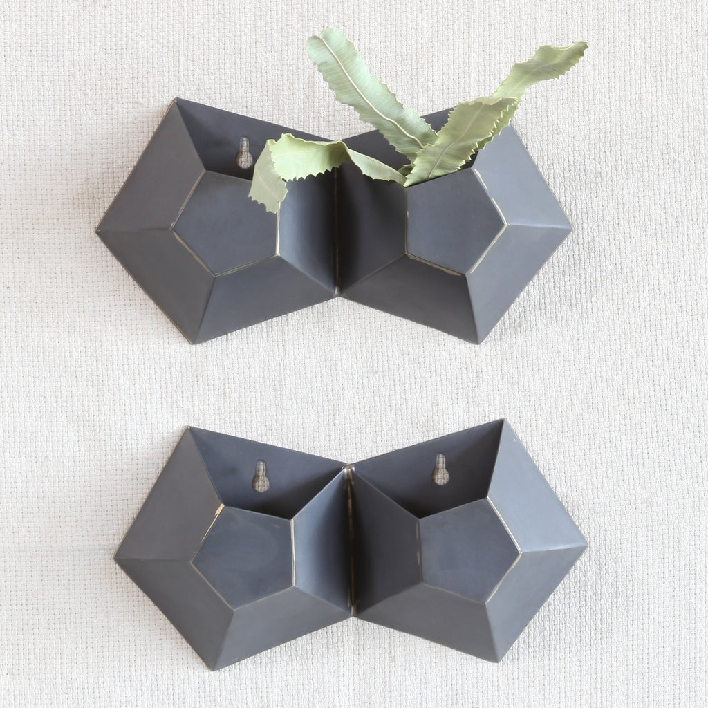 Hexagon Double Wall Vase