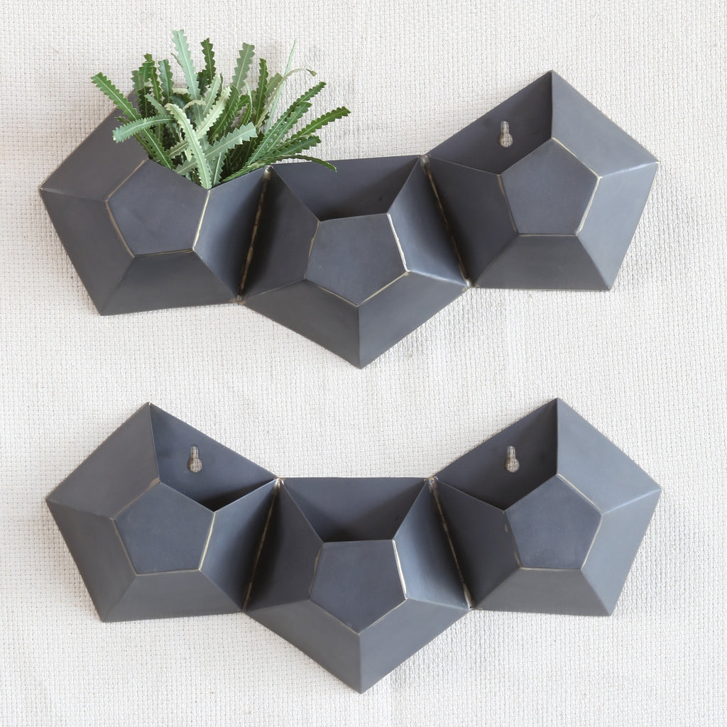 Hexagon Triple Wall Vase