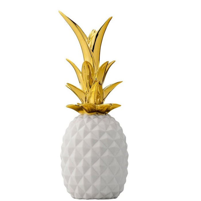 Gold + White Pineapple Ceramic