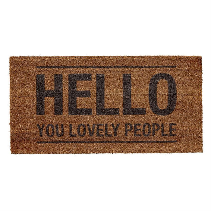 Hello Lovely People Door Mat