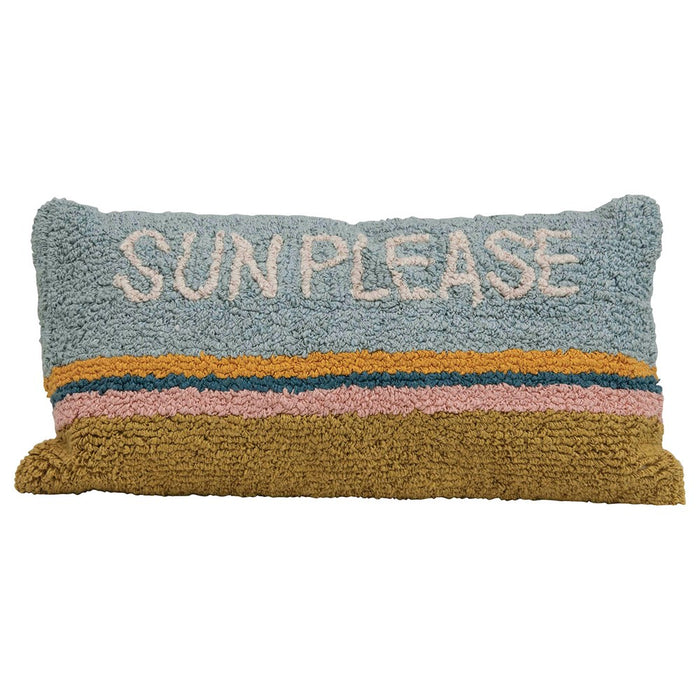 Sun Please Woven Hook Pillow