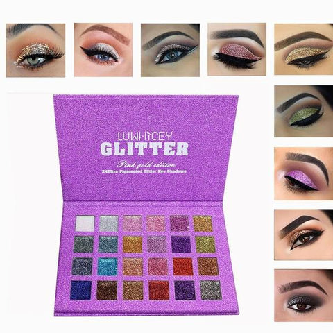 24-Color Pressed Diamond Glitter Eyeshadow Palette (Srcb)