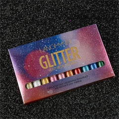 10-Pc / Set Liquid Glitter Shimmer Eyeliner Waterproof Pencil (Scrb)