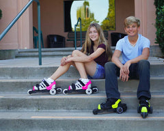 Cardiff Skate Co. Cardiff Cruiser Recreational Roller Skate Shoes for Kids and Youth