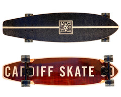 "Cardiff Cruiser Longboard 36"" Skateboard Complete - Deck, Trucks, Wheels and Bearings"
