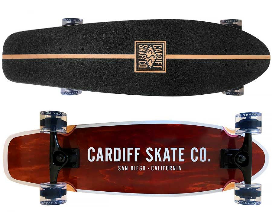 "Cardiff Cruiser 30"" Skateboard Complete - Deck, Trucks, Wheels and Bearings"