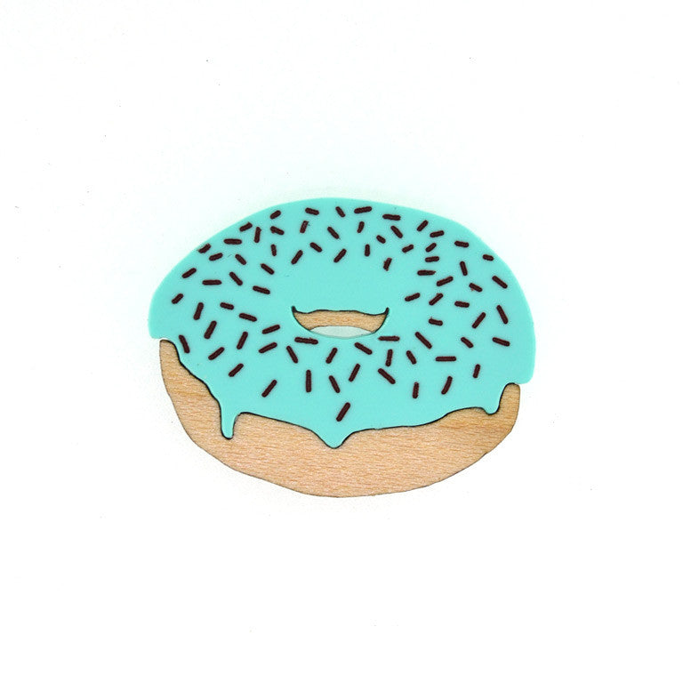 DONUT BROOCH CHOC-MINT