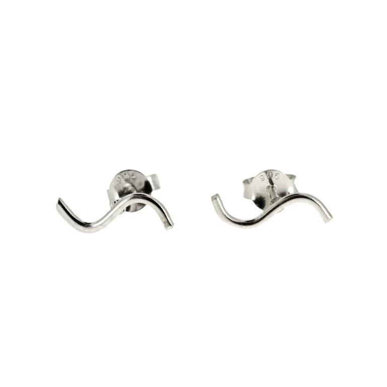 SQUIGGLE STUD EARRINGS