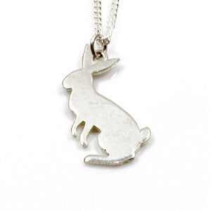 classic sterling silver rabbit necklace