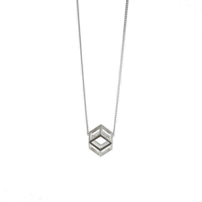 Single Rhombic dodecahedron necklace