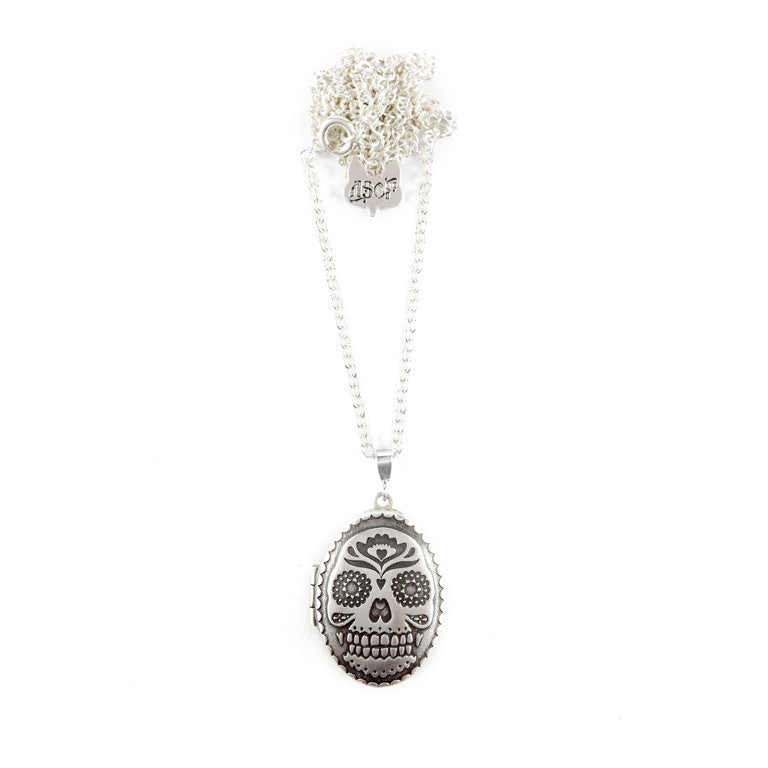 FOLK SKULL LOCKET