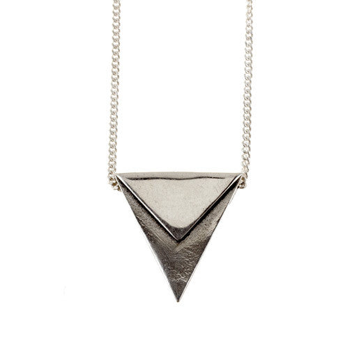 sterling silver single bunting necklace