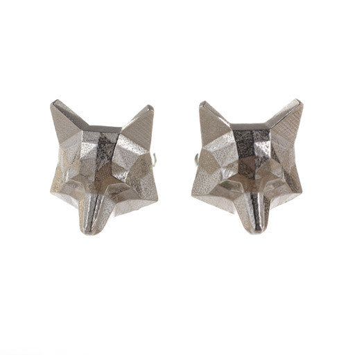 faceted fox cufflinks