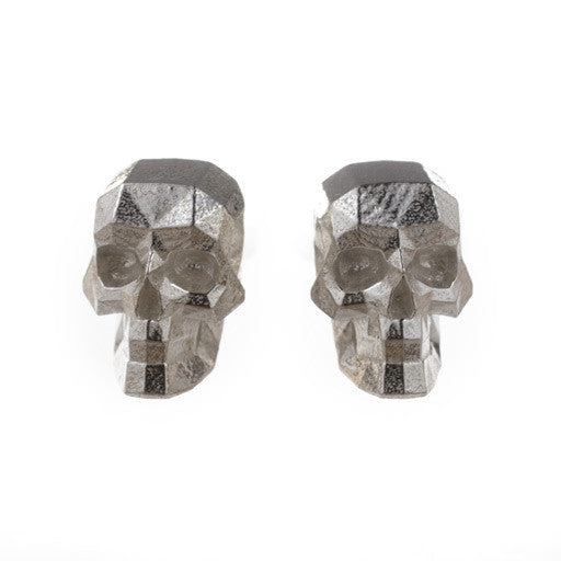 faceted skull cufflinks