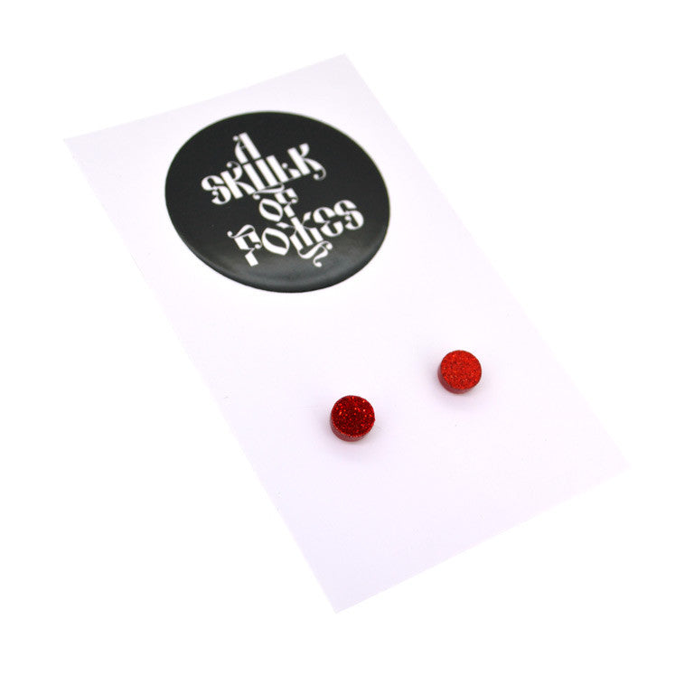 GLITTER STUDS CIRCLE - 4 COLOURS TO CHOOSE FROM!