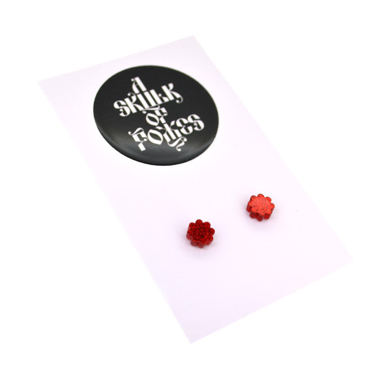 GLITTER STUDS FLOWER - 4 COLOURS TO CHOOSE FROM!