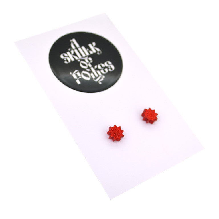 GLITTER STUDS STAR - 4 COLOURS TO CHOOSE FROM!