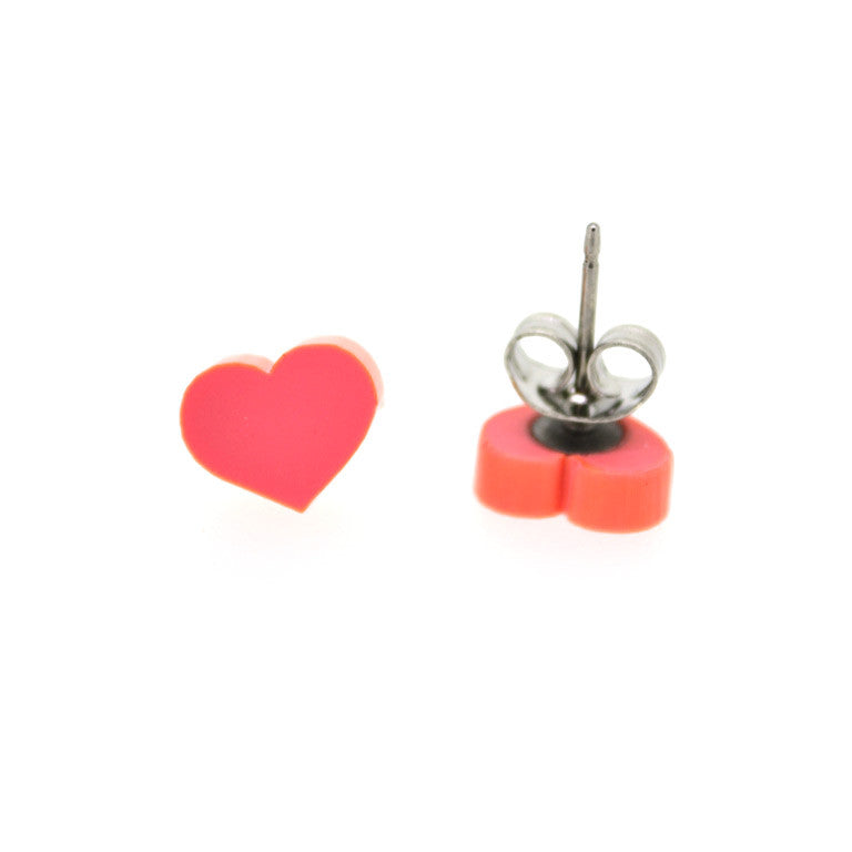 PASTEL STUDS HEART - 7 COLOURS TO CHOOSE FROM!