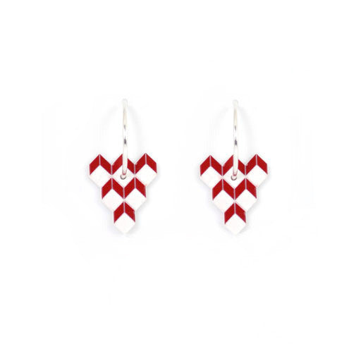 ACRYLIC HOOPS - TESSELLATE RED