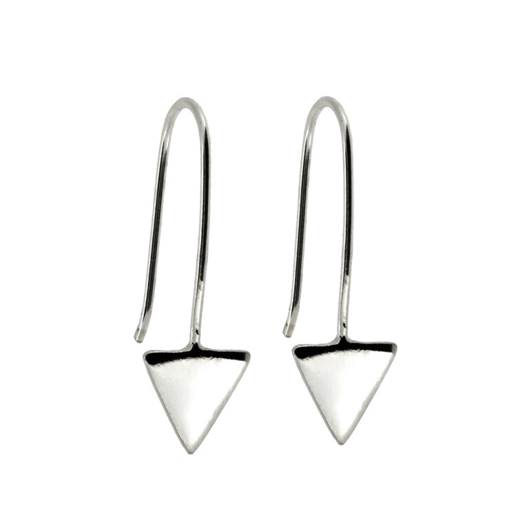 TRIANGLE HOOK EARRINGS
