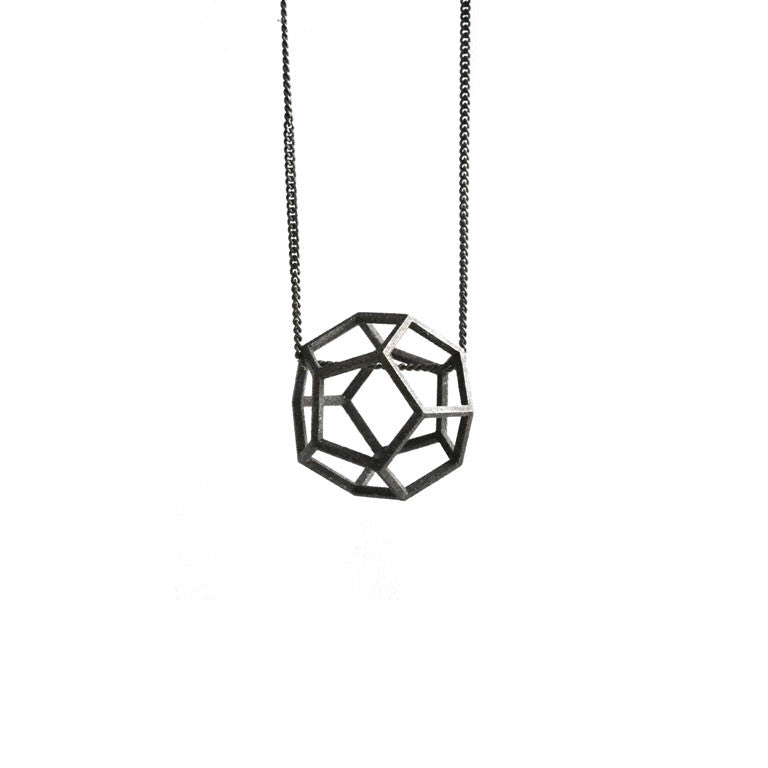 DODECAHEDRON NECKLACE OXIDE