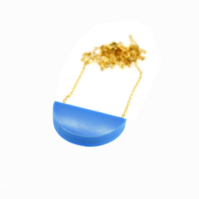 SLICE NECKLACE CORNFLOWER