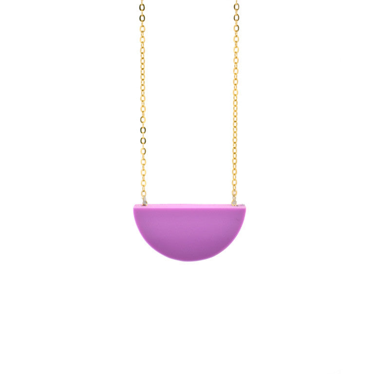 SLICE NECKLACE GRAPE