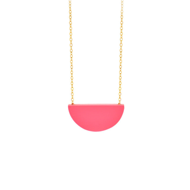 SLICE NECKLACE  RASPBERRY