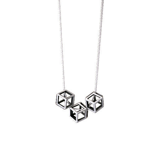 polyhedra rhombic cube necklace