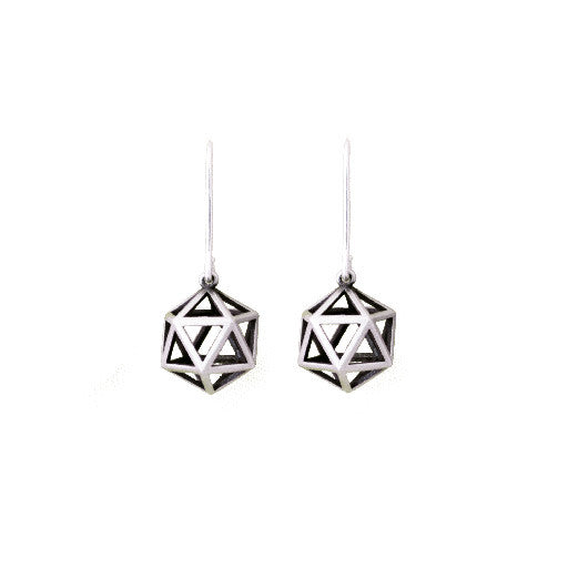 sterling silver platonic earrings