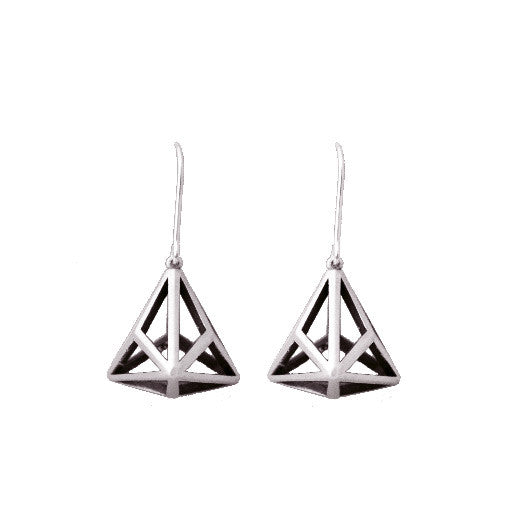 triakis earrings silver
